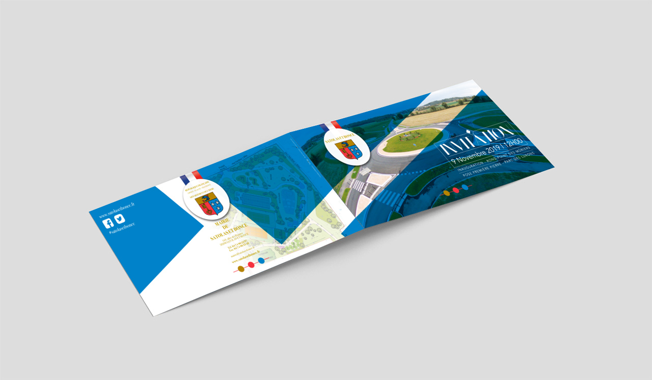 Carte invitation Mairie Satolas et Bonce