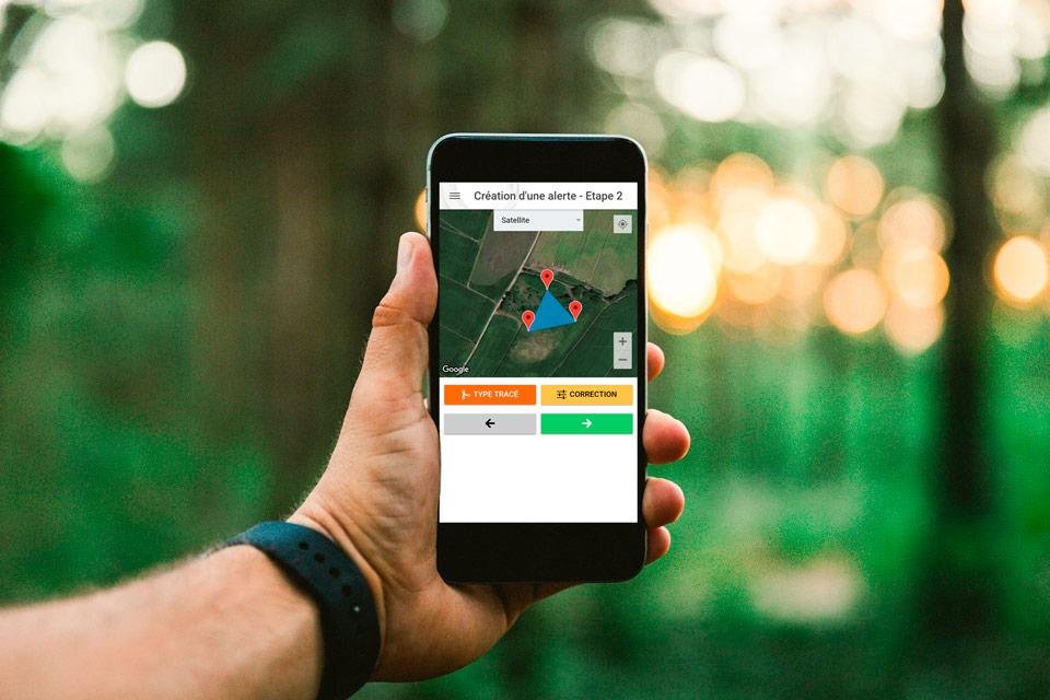 Signalement Ambroisie avec Application GPS i&n