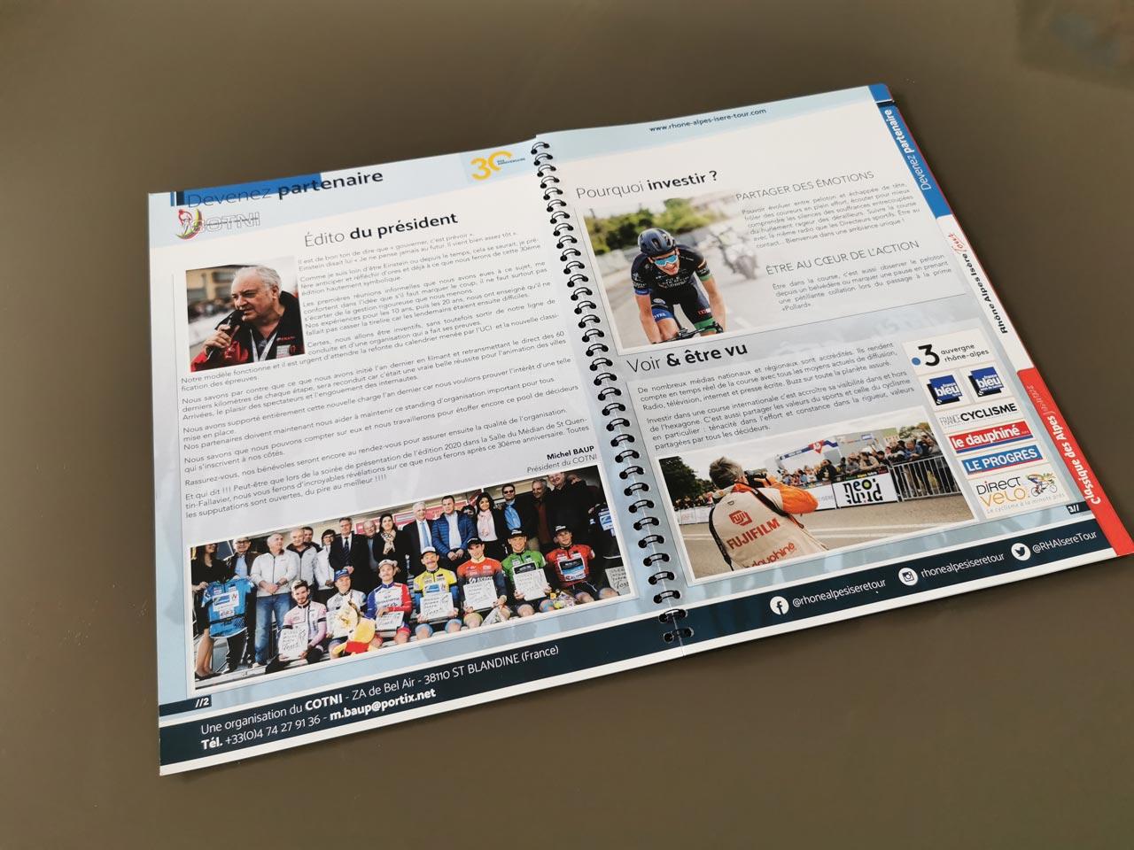 Book de partenariat Rhone-Alpes-Isere-Tour